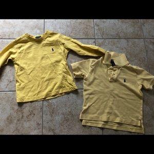 Two yellow Ralph Lauren 3T Shirts